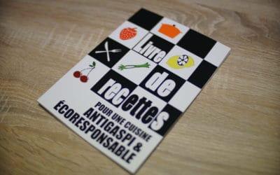 """""""Livre de Recettes pour une Cuisine Antigaspi & Ecoresponsable"""", un livre réalisé par les stagiaires de l'E2C ALLIER"""