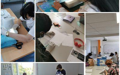 """Des ateliers """"confection de masque"""" proposés aux stagiaires de l'E2C Allier"""